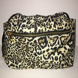 Chico's Leopard Print Travel Bag with Pockets